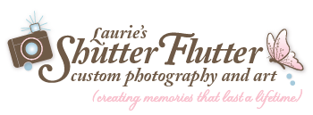 Laurie's ShuttterFlutter Photography logo